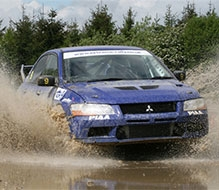 Mitsubishi Evo Rally Driving