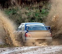 Subaru Impreza Rally Driving